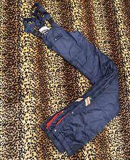Nevica Snow Mobile Snowpants Men's Size 40 Navy Blue Retro Bibs Neon