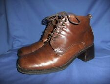 Pair of Ladies RUSSEL & BROMLEY Brown Leather Ankle Boots Shoes EU 38.5 UK 5.5