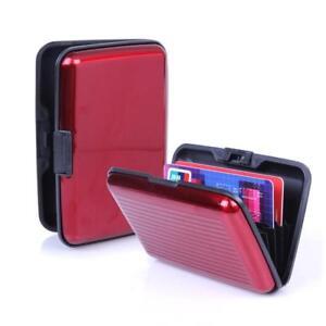 Aluminum Metal Wallet Business ID Credit Card Case Holder Anti RFID Scanning USA
