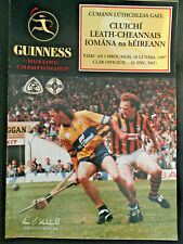 1997 GAA CLARE v KILKENNY All Ireland Hurling S-Final Programme