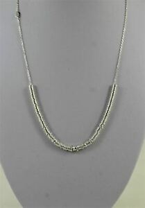 LINKS OF LONDON Ladies Sterling Silver Ring Beaded Chain Necklace 5020.3377 NEW