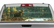 Truck Rear Window Decal Graphic [Wildlife / Black Bay Moose] 20x65in DC48004