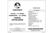 VL Commodore Spare Parts Catalogue Info Sheets Vehicle Options & Data