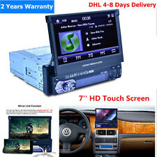 "7"" HD Touch Screen 1 DIN Car Stereo Video MP3 MP5 Player Bluetooth FM Radio hs"