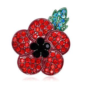 Flower Broach Brooch Vintage Silver Crystal Pin Gift UK Adequate inventory