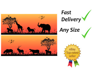 Sunset animals silhouette Cake Bands Ribbon Cake side strips Icing or Wafer