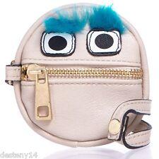 LuLu Furry Monster Blue Eyebrows Wristlet Coin Purse NWT
