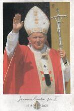 889 Giovanni Paolo II 1978-2005 Wojtyla Santino Holycard