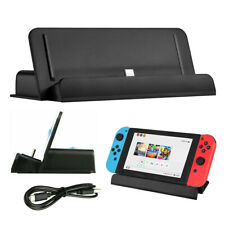 For Nintendo Switch Charger Charging Dock Station Stand + Type-C Charging Cable