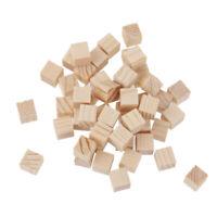 50pcs Natural Wooden Square Mini Cube Embellishment DIY Craft 10x10x10mm