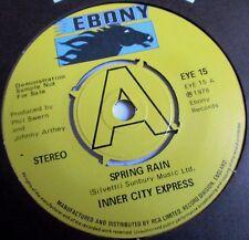INNER CITY EXPRESS SPRING RAIN*REGGAE STRINGS 1978 PROMO EBONY RECORDS EX COPY