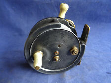 "A RARE VINTAGE OGDON SMITH SPINAX 3 1/2"" SPINNING CENTREPIN REEL"
