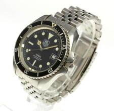 TAG HEUER 1000 classic, professional 200m, BLACK, MEN'S diver, quartz.LARGE CASE