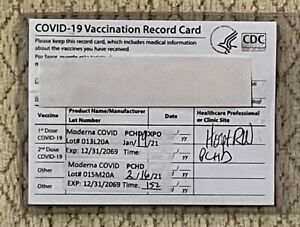 Lot of 5 Vaccination Record Card Holders to Protect 4x3 CDC Card - Clear Vinyl