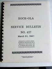 Rock-Ola 427 Coin-Operated Music Equipment SERVICE MANUAL Jukebox
