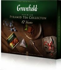 Greenfield Set of 12 types of leaf tea and a tea drink in pyramid bags, 60 pcs.