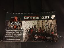 2015 SAN FRANCISCO GIANTS SEASON TICKET BOOK STUBS WORLD CHAMPIONS BUMGARNER