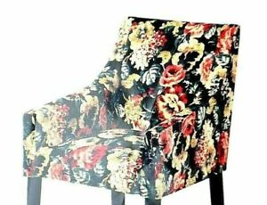 IKEA SAKARIAS 100% Cotton Armchair Cover Dining Chair Slipcover Lingbo Floral