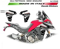 Adesivi personalizzati Ducati Multistrada 1200 Enduro Black/Red