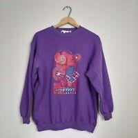 Esprit Womens Size S Purple Vintage 90's Graphic Logo Sweatshirt Crew Neck
