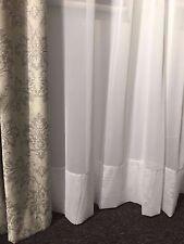 WHITE Sheer Curtain -Hemmed Voile-FAIRLIGHT 221cm drop Rod Pocket