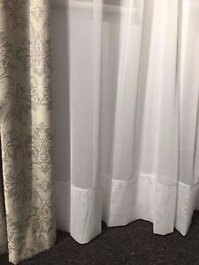 WHITE  Sheer Curtain -Hemmed Voile-FAIRLIGHT 183 cm drop Rod Pocket