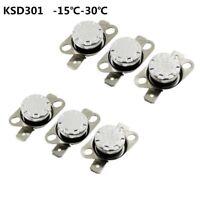 Temperature Switch Control Sensor Thermal Thermostat -15°C-30°C NO/NC KSD301