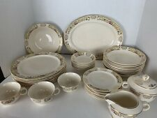 40 Piece LOT: Paden City Pottery Service for 8 RARE PATTERN Gold Filigree Floral