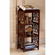 Dictionary Free Standing Book Display Shelves Wooden Antiqued Lecturn Pedastal