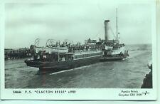 Pamlin repro photo postcard SM646 Paddle Steamer CLACTON BELLE 1922