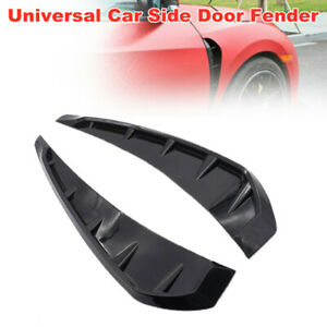 Universal Auto Car Glossy Black Side Door Fender Vent Air Wing Cover Trim Grille