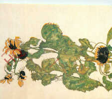 Picture Postcard, Egon Schiele, Sunflowers