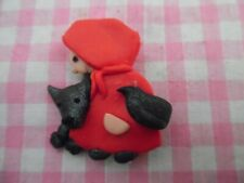 Hood Plastic Brooch Little Red Riding