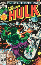 Incredible Hulk #250 - Double-Size Silver Surfer Cover - 1980 (Grade 9.0)
