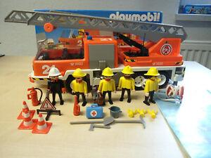"""Playmobil Klicky Set 3781 """"Feuerwehr Leiterwagen""""  gebraucht"""