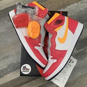 Nike Air Jordan 1 Retro High OG Light Fusion Red 555088-603 Size 12