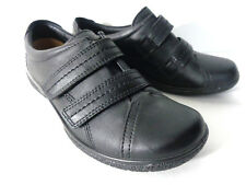HOTTER Leap US 6M EUR 37 Black leather walking oxford shoes ENGLAND New No Box