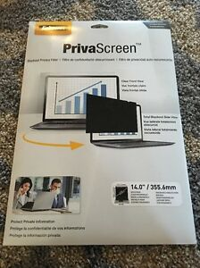 """Fellowes Privascreen Blackout Privacy Filters For 14"""" Widescreen Lcd/notebook"""