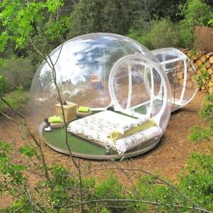 Inflatable Bubble Tent with Fan 5M Dia Igloo House Tent Hotel Travel Business