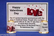 """Happy Valentines Day """"Love"""" China Thimble+ History Card B/148"""