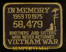 POW MIA VIETNAM HAT PATCH IN MEMORY MEMORIAL PIN UP US ARMY MARINES NAVY USAF