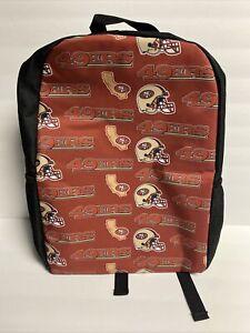 San Francisco 49ers Backpack School Sports Zipper Adjustable Unisex