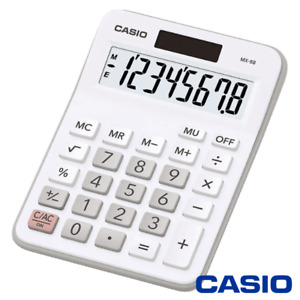 CASIO MX-8 CALCULATOR FOR OFFICE DESKTOP BUSINESS & STUDENTS OFF WHITE - MX8