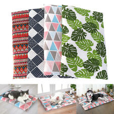 Soft Cotton Cat Dog Bed Mat Washable Indoor Pet Sleeping Cushion Removable Cover