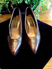 Barefoot Originals Brown Leather Croc Print Italy SZ 8