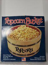 VIntage Spaulding & Frost Co. Wooden Popcorn Barrel Bowl Bucket Made In USA RARE