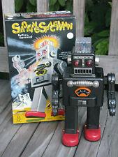 "TIN TOM TOY 2001 Smoking Spaceman 12"" Robot Battery Operated TR2011 ~ RARE"