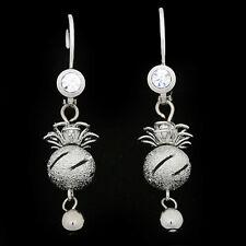 18k White Gold Plated Women Fashion Dangle Ball Earring XE124