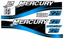 BLUE MERCURY 225 OUTBOARD FOUR STROKE MOTOR STICKERS DECAL KIT ENGINE