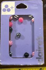 Claires Claire's Light Pink White Black Balls ? RRP £6